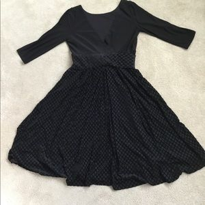 NWOT Adrianna Papell Mixed Media Fit & Flare Dress
